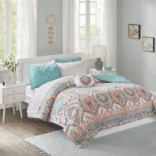 Beautiful Modern Chic Blue Aqua Orange Tropical Bohemian Comforter Set & Sheets