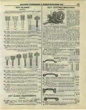 1932 PAPER AD Russwin Key Cutting Machine