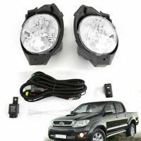 2X Front bumper Fog Light Lamp Fits Toyota Hilux MK6 2008-2011 Vigo Pickup Spot