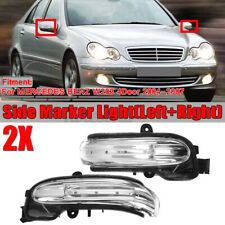 Left+Right Door Mirror Turn Signal Light LED For Mercedes W203 C-Class