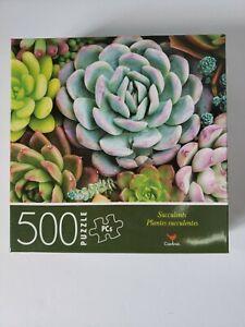 "Cardinal 500 pc ""Succulents"" Garden Plant Jigsaw Puzzle *NEW*"