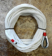 """50 ft x 3/8"""" Hollow Braid Anchor Line. Stays supple for small craft. Made USA !"""