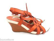 Kenneth Cole Reaction Pumpkin Spice Orange Wedge Sandals 8.5 M Comfort