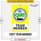 CERT Community Emergency Response Team ID Card Identification Patch SERT  - C 04