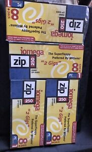 Lot of 32 Total Iomega 250MB Zip Disk PC Formatted. 8 4 PACK. BRAND NEW!!!