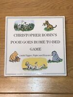Christopher Robin's 'Pooh Goes Home To Bed' Board Game  Good Condition Free P&P