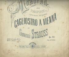 Luce ed Ombra Mazurka per Piano di Giovanni Strauss Spartito Tito Ricordi 1875