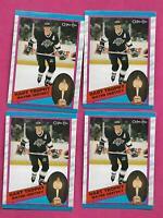 4 X 1989-90 OPC # 320 LA KINGS WAYNE GRETZKY  NRMT-MT  CARD (INV# C2395)