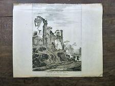 GRAVURE 17e s. Gabriel Pérelle d'ap. Asselyn RUYNE PALAIS MAIOR N. Langlois ROME