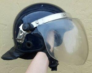 French Police Riot Gallet Helmet w/ Visor