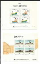 Azores, Portugal Colony, Lot of 4 Mint NH Sheets, 382, 363a, 344a, 333a