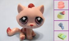 Littlest Pet Shop Tabby Cat Monopoly Pink Mauve No Number Authentic Lps