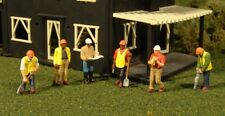 New Bachmann HO Scale Scenescapes Six Civil Engineers with Tools