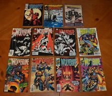 LOT C 11 WOLVERINE COMIC BOOKS LOT FOR COLLEGE BOOKS / TUITION - READ BUT LOVED