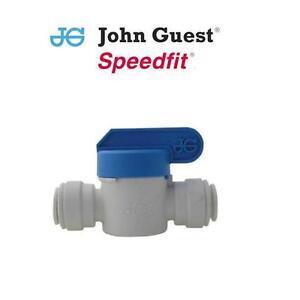 John Guest Push-fit Shut Off Ball Water Valve / Tap - 1/4 3/8 1/2 6 8 10 12 15