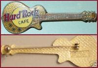 Hard Rock Cafe NO CITY NAME Metallic GOLD Les Paul Guitar PIN EYEBALL HRC #3364