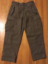 Vtg Wilhelm Schwarz Wool Pants 32x26.5 Green Cargo Military Hunting West Germany