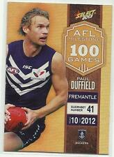 2013 AFL SELECT CHAMPIONS MILESTONE GAME MG21 Paul Duffield Fremantle CARD