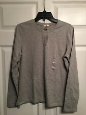 NWT Old Navy Perfect Fit Tee Long Sleeve Top T-Shirt Size L Large Gray