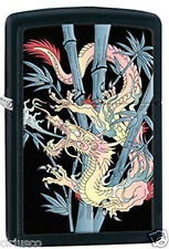 Chinese Oriental Bamboo Dragon Black Matte Zippo Lighter