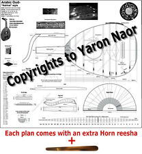 Arabic Oud plan ! Nahhat style detailed for building FULL 1:1 scale+ free risha
