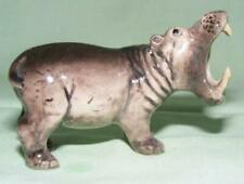 More details for klima miniature porcelain animal figure hippopotamus mouth open head right k965