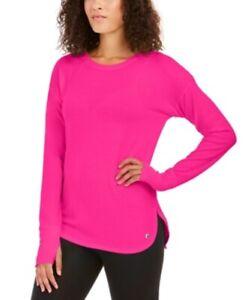 Ideology Women's Activewear Long Sleeve Knit Top Shirt, Pink, Size XL, $40, NwT