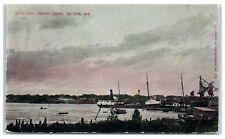 1910 De Pere, WI, Co-op Coal Company Fox River Docks Postcard