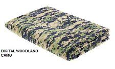 "Polar Fleece Throw Blanket 60"" X 80"" Digital Woodland Camo MARPAT Camping USMC"