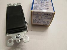 NEW Leviton Decora 3 Way Toggle Switch 5603-2E BLACK 15A GFCI ROCKER