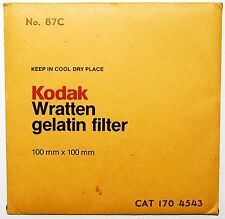Kodak Wratten 87C Infrared 100 mm (4 inch) Gelatin Filter EXCELLENT