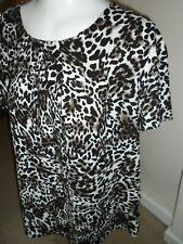 Bonmarche` ladies leopard print  blouse top size 18