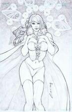 "Emilio Laiso - Marvel Comics: Emma Frost Pin Up 11""x17"" Original Art White Queen"