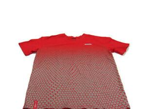 Nike T-Shirt Red Gray Cotton Jordan Jumpman 23 Short Sleeve Crew Neck Mens XL