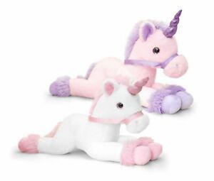 Keel Toys Unicorns 50cm Unicorn Pink or White Cuddly Soft Toy Teddy SF1562