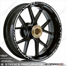 Trims Wheel Stickers Sport Honda VFR 750 800 1200 White Silver