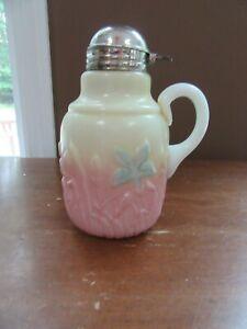 Antique Syrup Burmese Custard Milk Glass Flowers EAPG 1880's