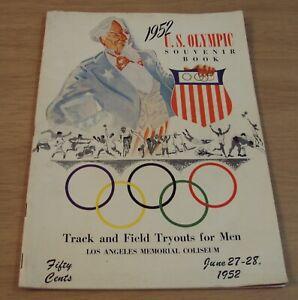 """1952 U.S. SOUVENIR Program~""""HELSINKI OLYMPICS"""" Men's TRACK & FIELD Tryouts~"""