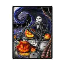 "Soft The Nightmare Before Christmas Throw Blanket 58"" x 80"" Inch"