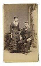19th Century Couple Portrait - Original Carte-de-visite - Prairie du Chien, WI