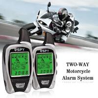 5000M LCD Moto Scooter Système d'alarme Antivol Avertisseur w/ 2 Télécommande