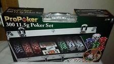 Pro Poker 300 Chip Poker Set  PLEASE READ DESCRIPTION SLIGHT DAMAGE