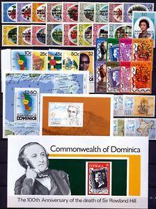 Dominica Postfrische Sammlung von 1978-1981 Michel Nr. 591 - 729 (ohne Block 66)