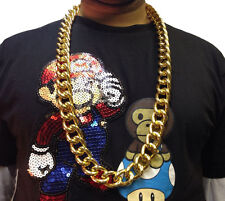 HIP HOP CHAIN NECKLACE • 50cm • GOLD STYLE • COSTUME #187