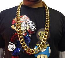 Hip Hop Cadena Collar • 50cm • Oro Estilo • Disfraz # 187