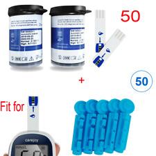 Diabetic Blood Glucose 50Pcs Test Strips + 50pcs Free Lancets Usa Shipment