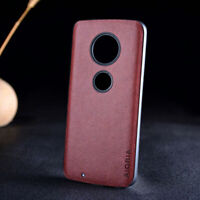 Case for Motorola Moto G6 G6 Plus Luxury Vintage leather case and silicone cover