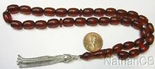 Prayer Beads Komboloi Vintage Cognac Color Misketa 1950 New Old Stock Rare