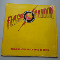 Queen - Flash Gordon Soundtrack Vinyl LP UK 1st 1980 A-3/B-4 In Shrink EX+/NM