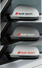 2 x Car `AUDI SPORT`with Logo for wing mirrors or Bodywork - Decal Sticker